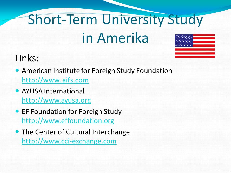 Short-Term University Study in Amerika