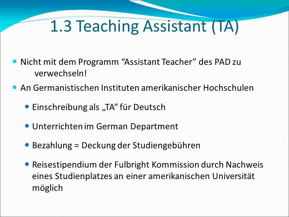 1.3 Teaching Assistant (TA)