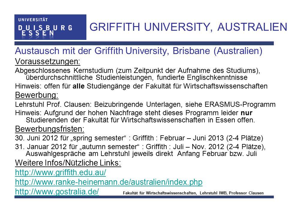 GRIFFITH UNIVERSITY, AUSTRALIEN