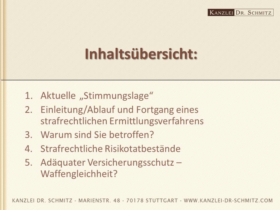 """Inhaltsübersicht: 1. Aktuelle """"Stimmungslage"""