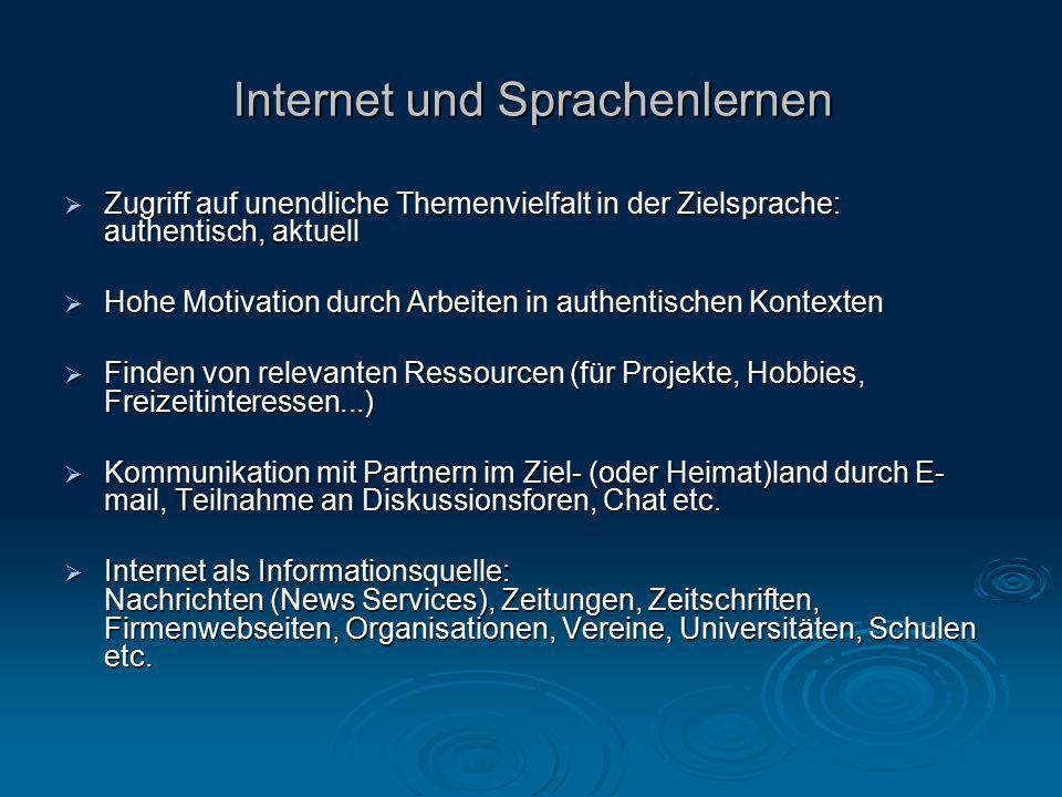 Internet und Sprachenlernen