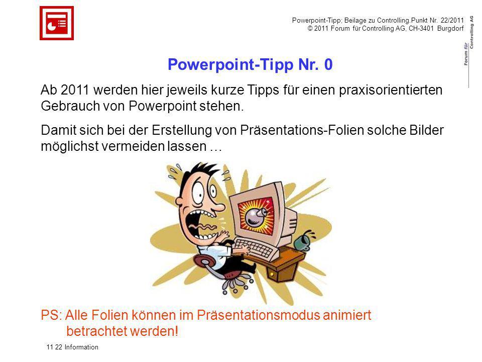 Powerpoint-Tipp; Beilage zu Controlling. Punkt Nr