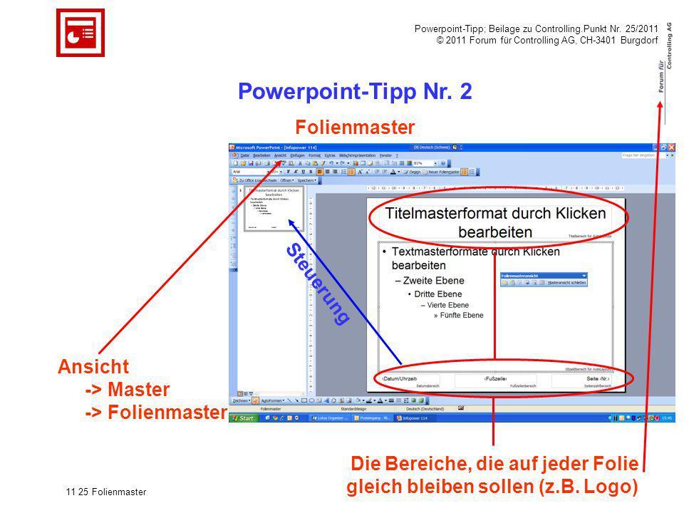 Powerpoint-Tipp Nr. 2 Folienmaster