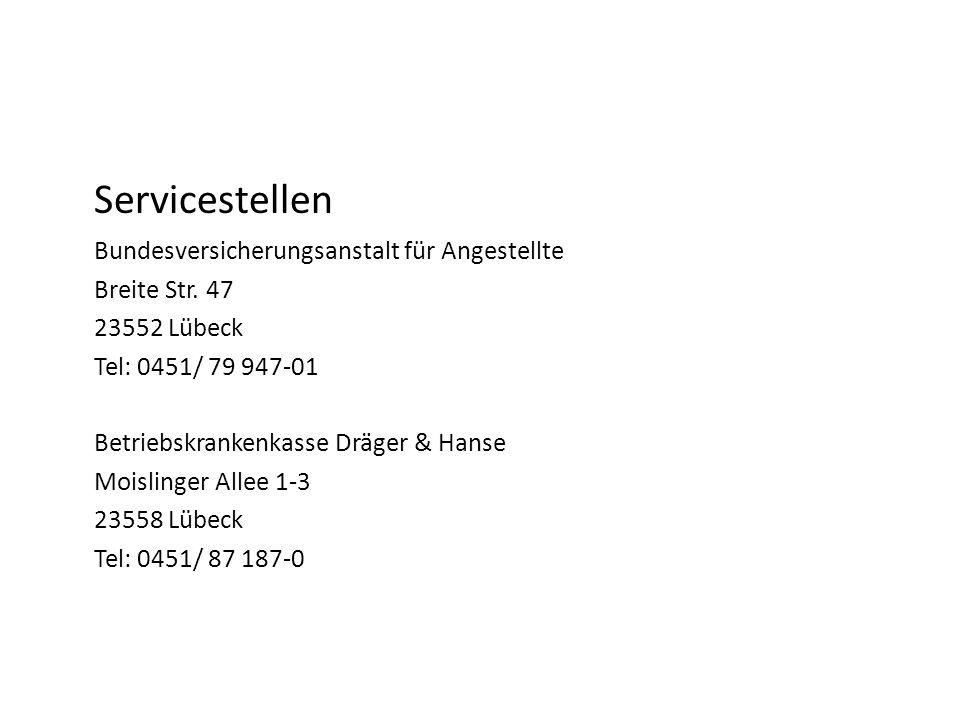 Servicestellen Bundesversicherungsanstalt für Angestellte