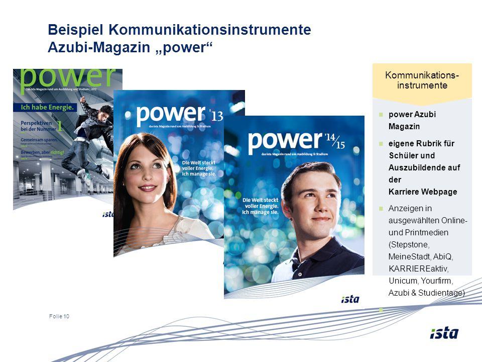 """Beispiel Kommunikationsinstrumente Azubi-Magazin """"power"""