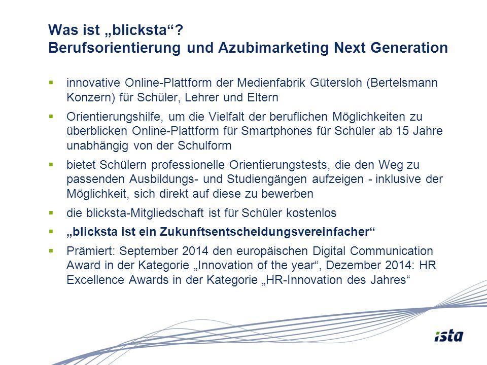"""Was ist """"blicksta Berufsorientierung und Azubimarketing Next Generation"""