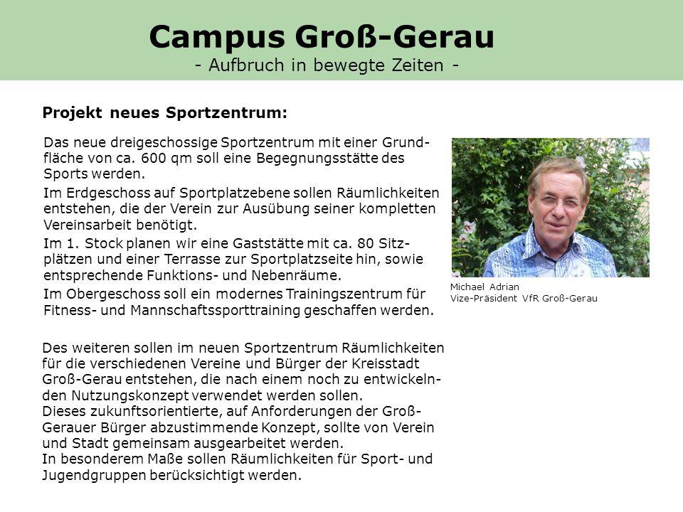 Projekt neues Sportzentrum: