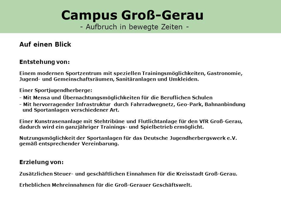 Campus Groß-Gerau - Aufbruch in bewegte Zeiten - Auf einen Blick