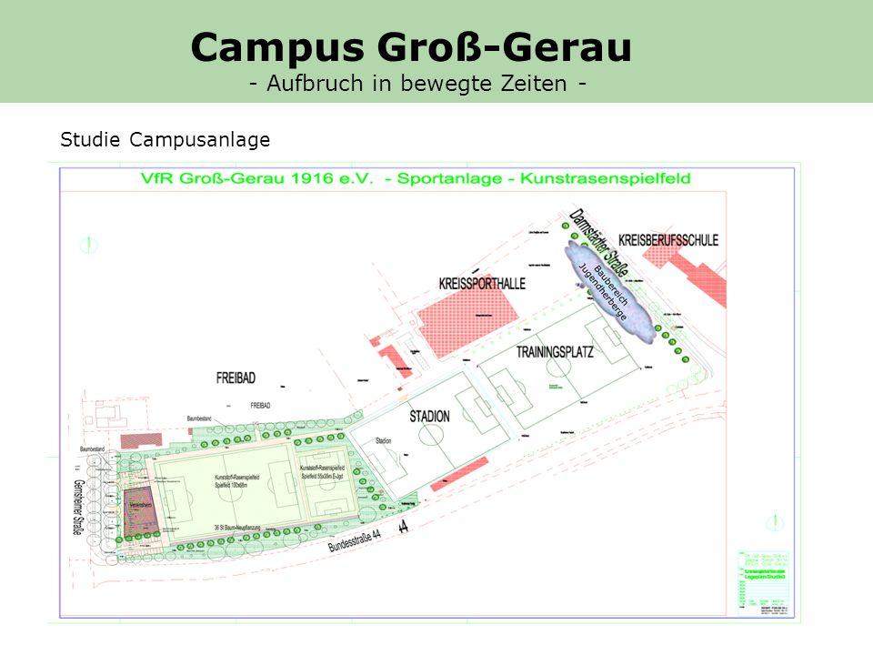 Campus Groß-Gerau - Aufbruch in bewegte Zeiten - Studie Campusanlage