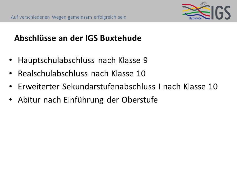 Abschlüsse an der IGS Buxtehude