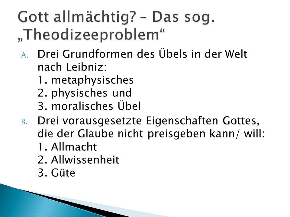 "Gott allmächtig – Das sog. ""Theodizeeproblem"