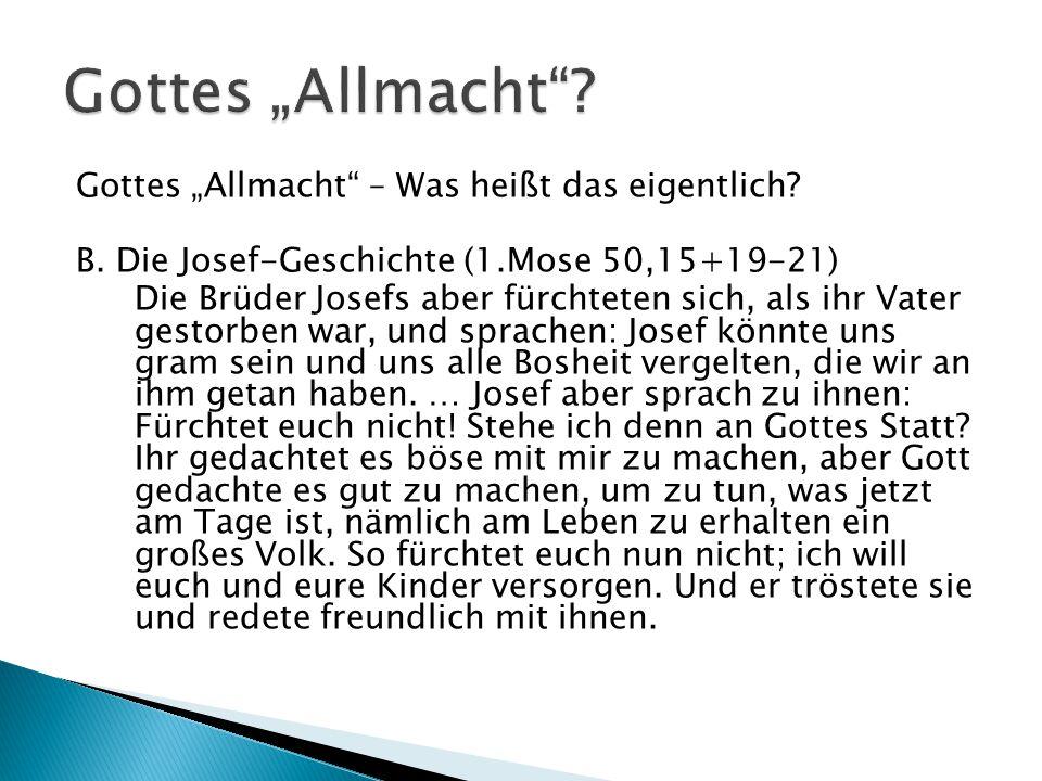 """Gottes """"Allmacht"""