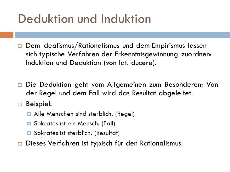 Deduktion und Induktion