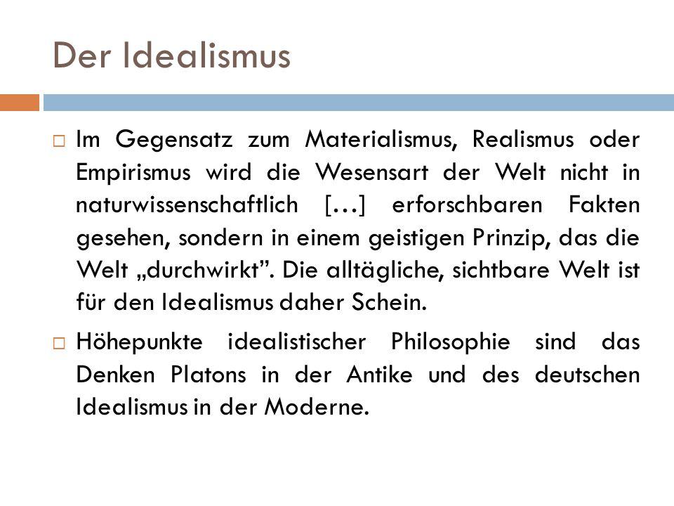 Der Idealismus
