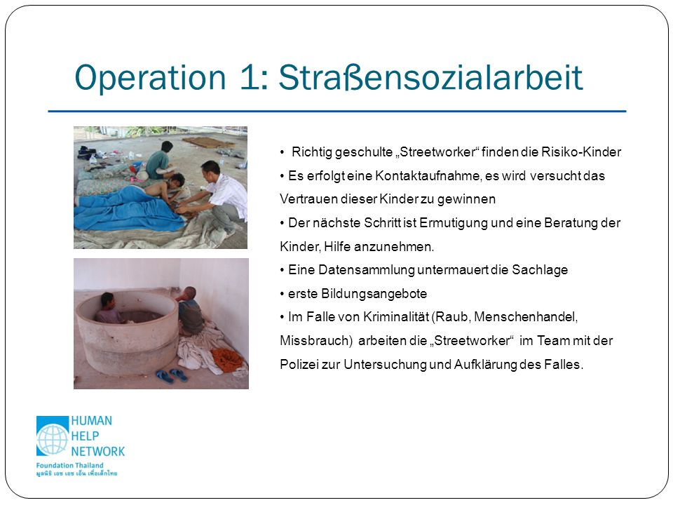 Operation 1: Straßensozialarbeit