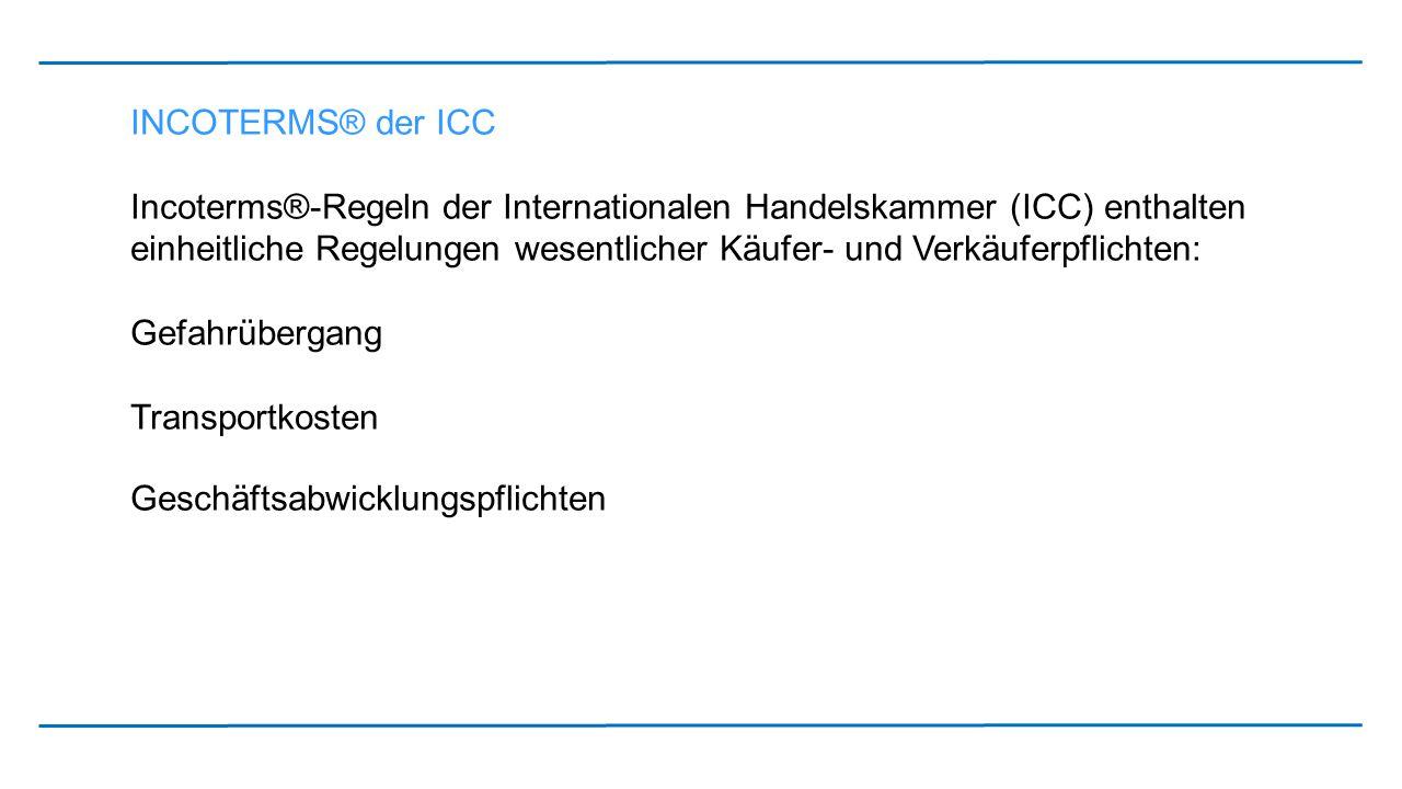 INCOTERMS® der ICC