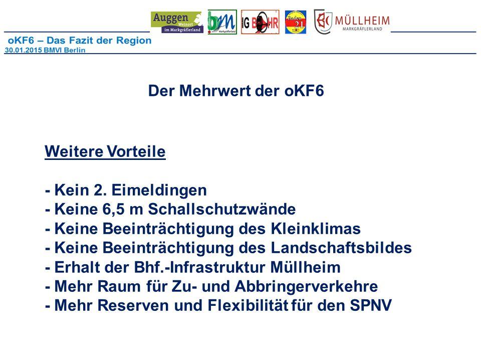 Der Mehrwert der oKF6 Weitere Vorteile.