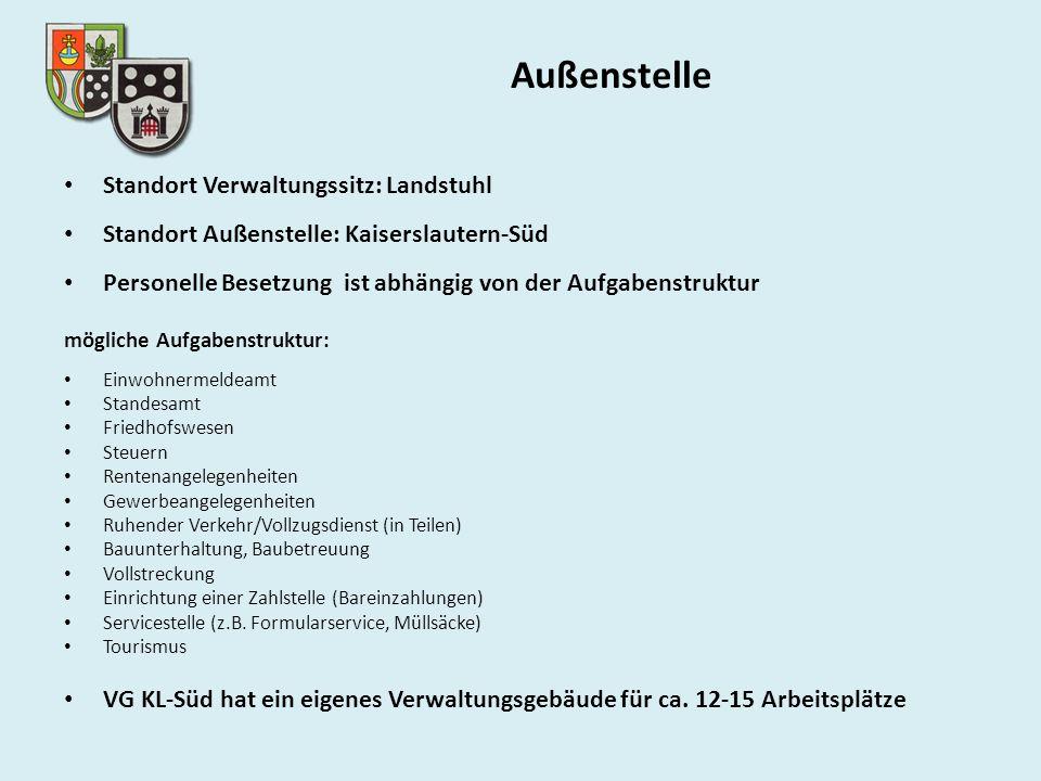Außenstelle Standort Verwaltungssitz: Landstuhl