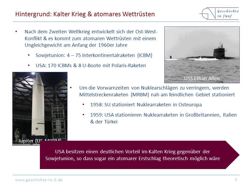 Hintergrund: Kalter Krieg & atomares Wettrüsten