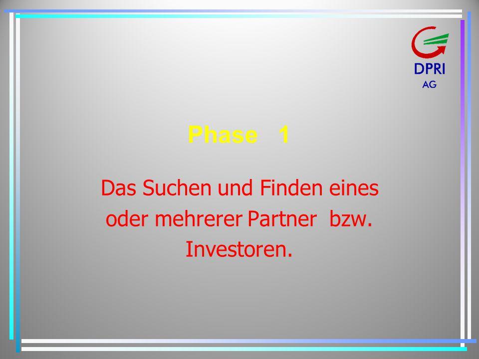 Das Suchen und Finden eines oder mehrerer Partner bzw. Investoren.