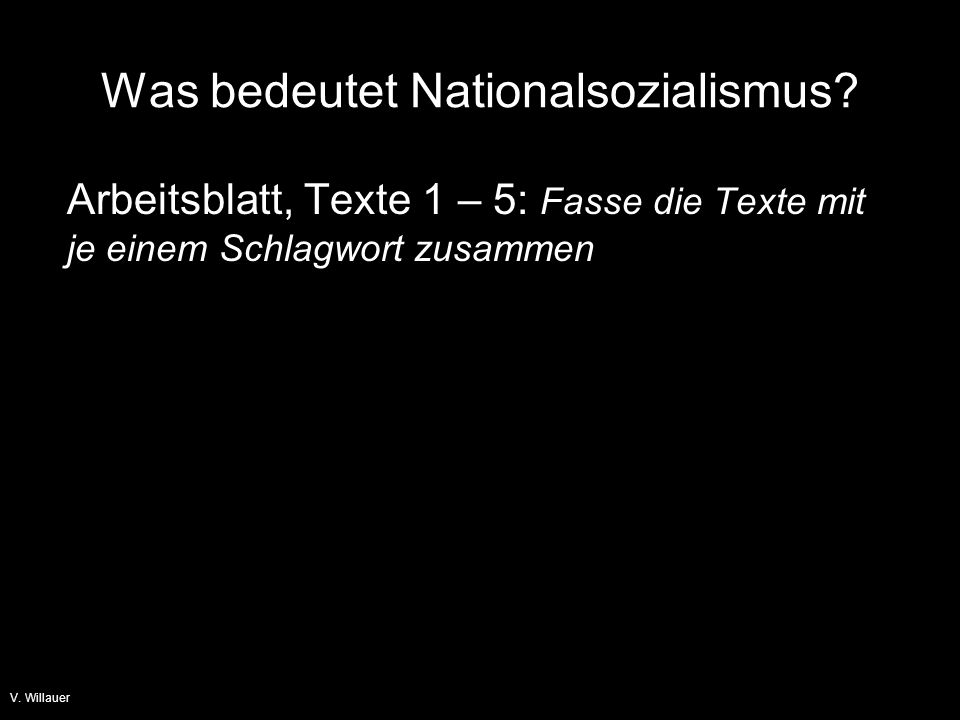 Was bedeutet Nationalsozialismus