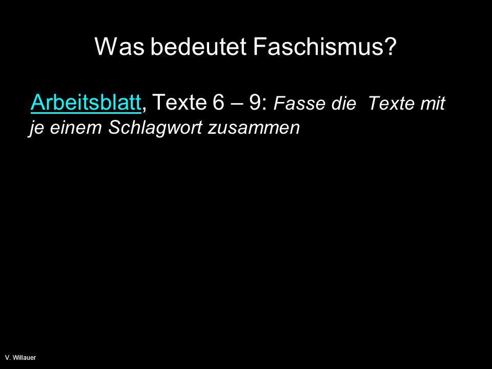 Was bedeutet Faschismus