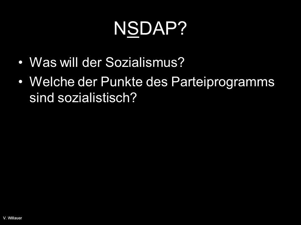 NSDAP Was will der Sozialismus