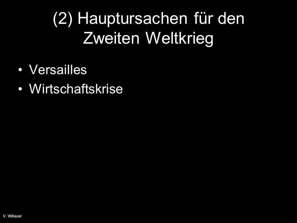 (2) Hauptursachen für den Zweiten Weltkrieg
