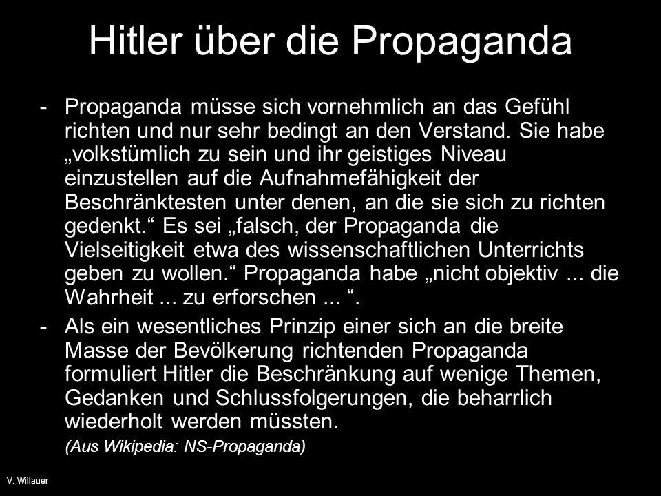 Hitler über die Propaganda