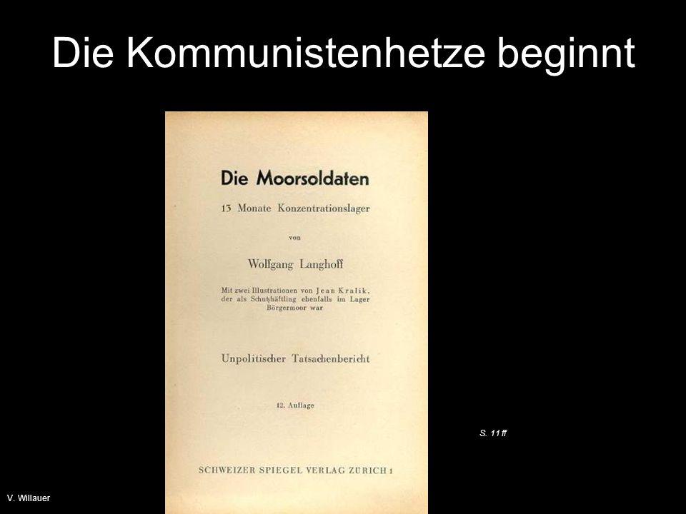 Die Kommunistenhetze beginnt