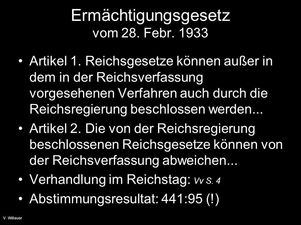 Ermächtigungsgesetz vom 28. Febr. 1933