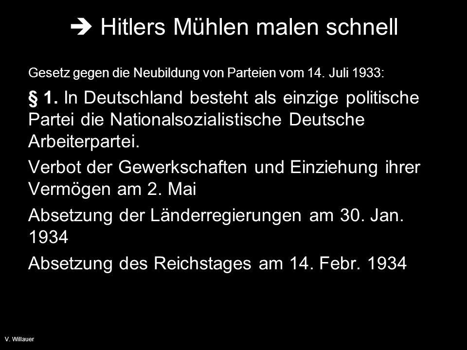  Hitlers Mühlen malen schnell