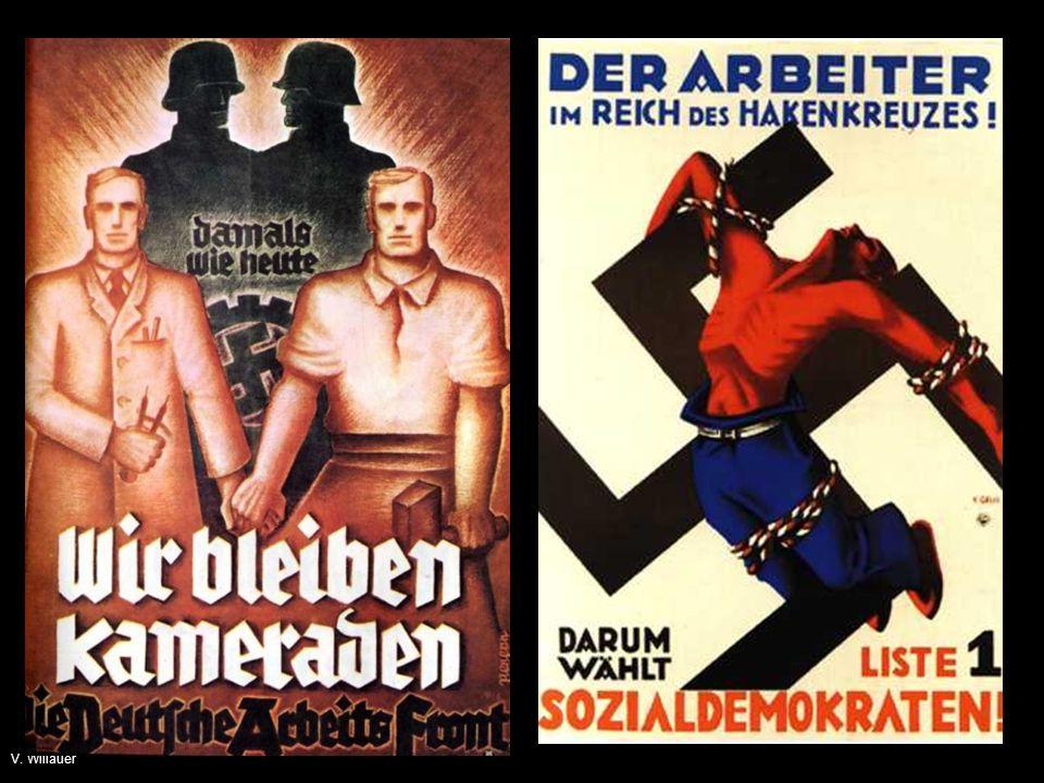 Wer hat recht mit dieser Volksgemeinschaftsideologie, die NSDAP oder die Kritik der Sozialdemokraten an dieser Ideologie Dies anhand der nächsten Folie überlegen