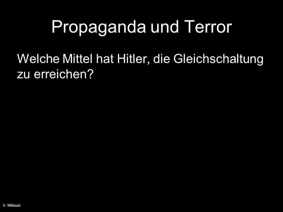 Propaganda und Terror Welche Mittel hat Hitler, die Gleichschaltung zu erreichen V. Willauer