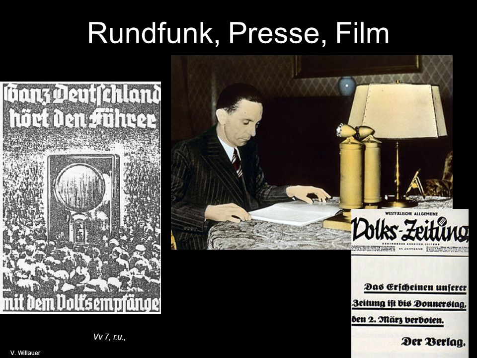 Rundfunk, Presse, Film Vv 7, r.u., V. Willauer