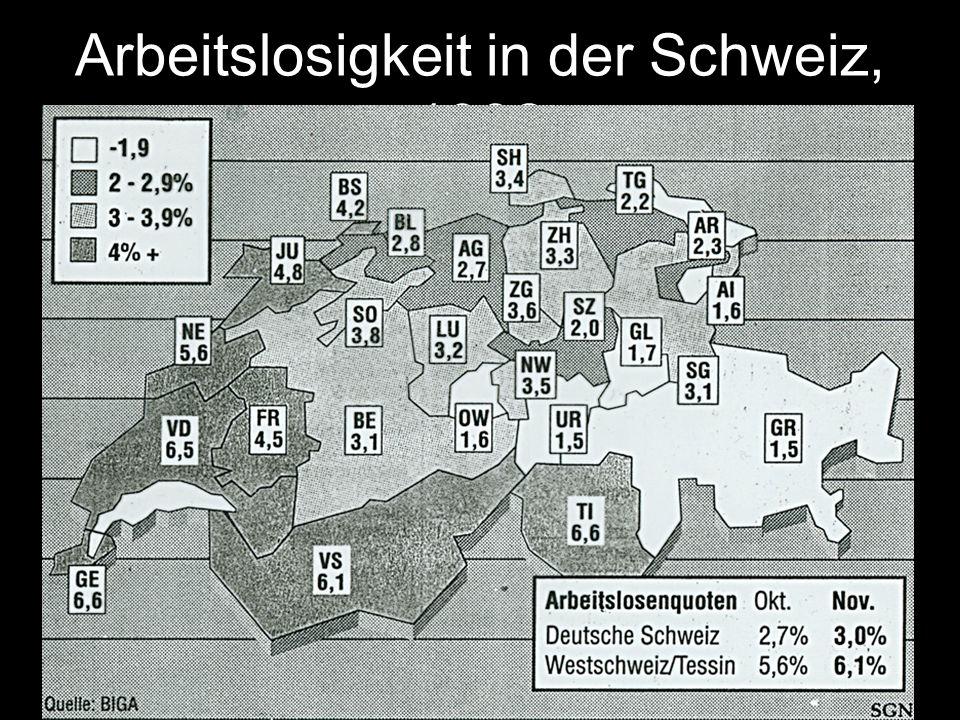 Arbeitslosigkeit in der Schweiz, 1992