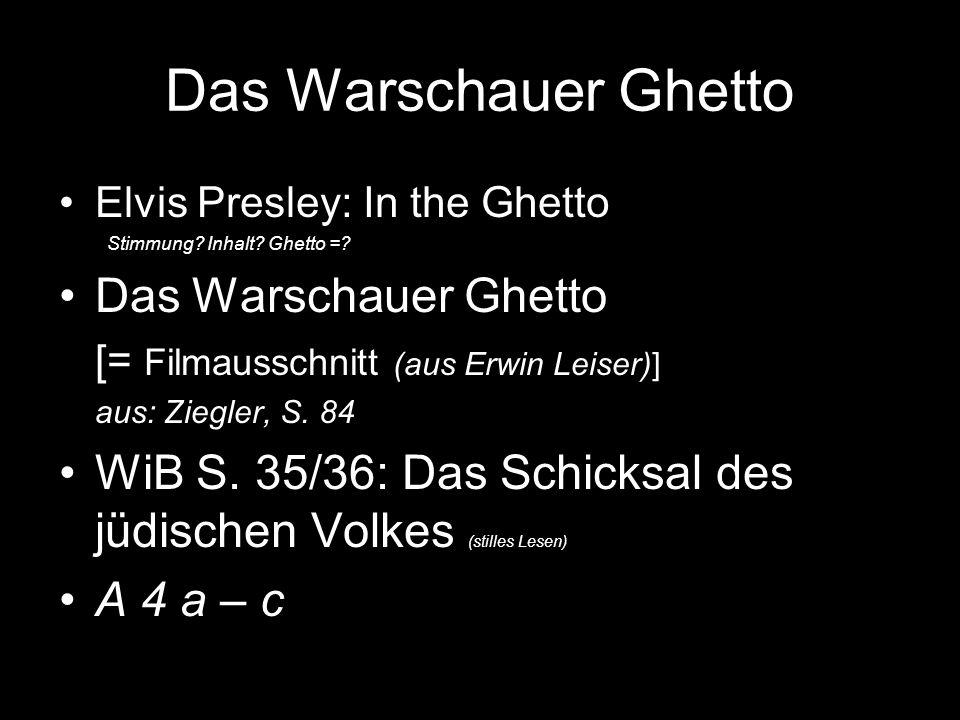 Das Warschauer Ghetto Das Warschauer Ghetto