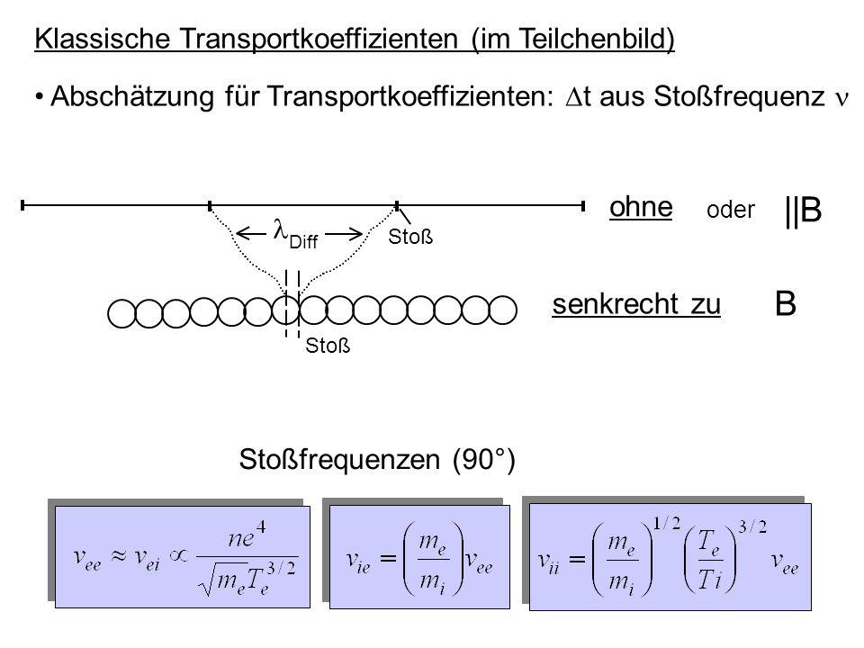 Klassische Transportkoeffizienten (im Teilchenbild)