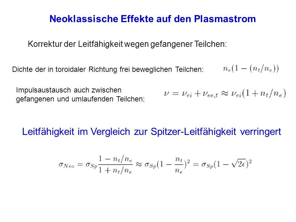 Neoklassische Effekte auf den Plasmastrom