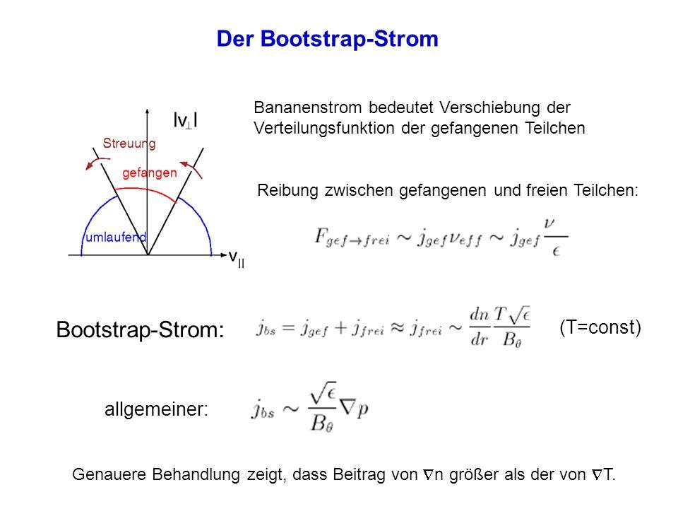 Der Bootstrap-Strom Bootstrap-Strom: (T=const) allgemeiner: