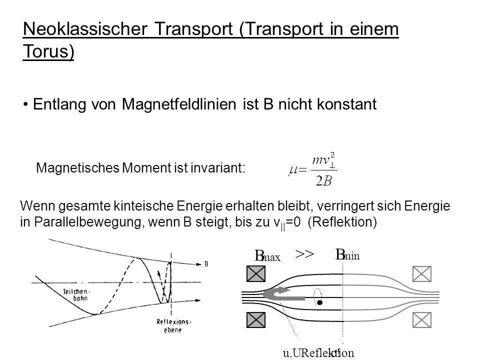 Neoklassischer Transport (Transport in einem Torus)