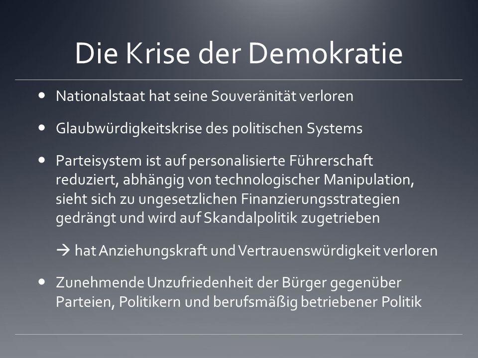 Die Krise der Demokratie
