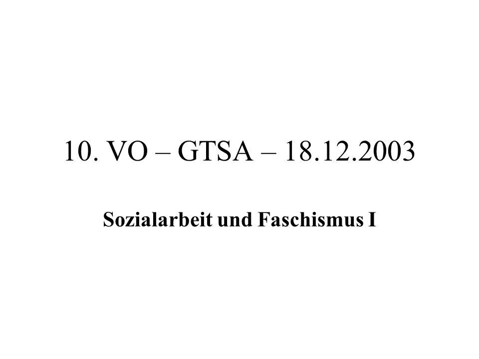 Sozialarbeit und Faschismus I