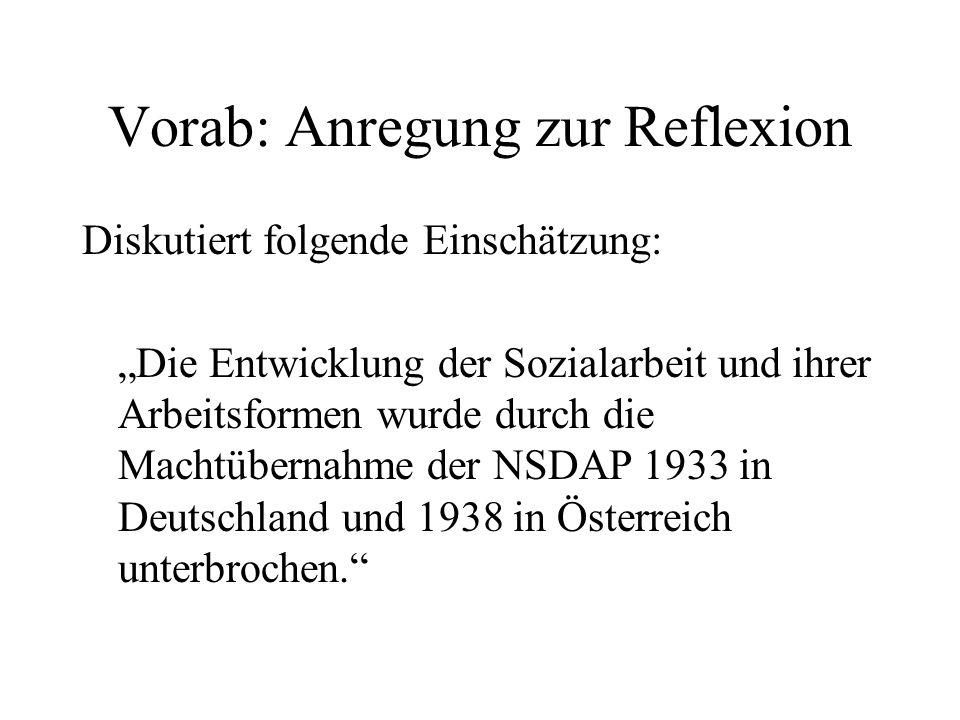 Vorab: Anregung zur Reflexion