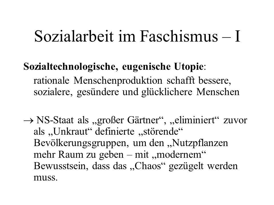 Sozialarbeit im Faschismus – I