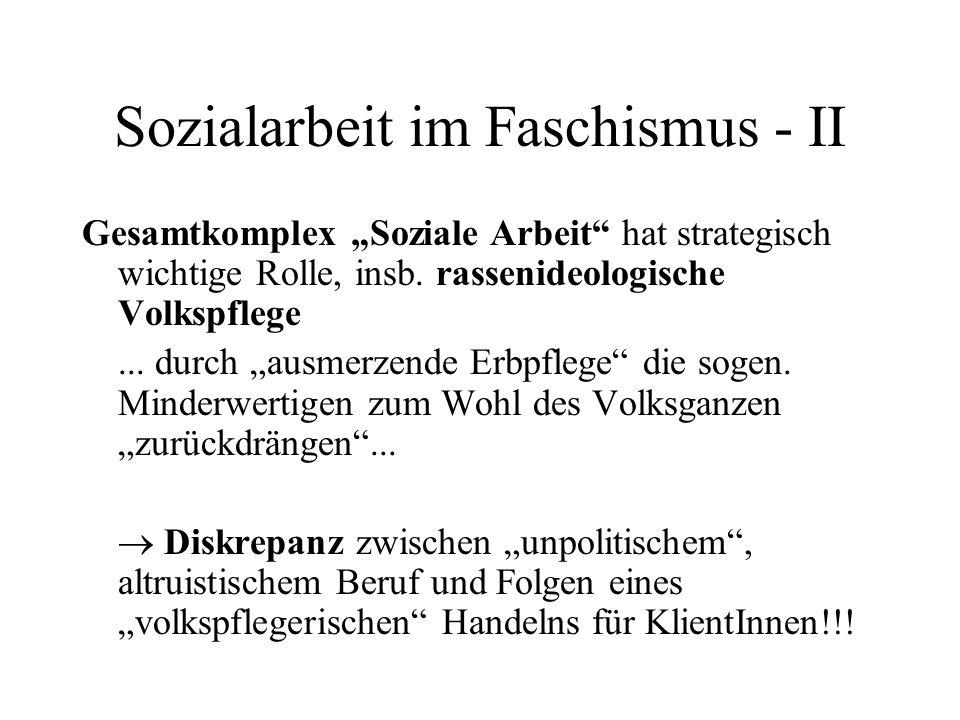 Sozialarbeit im Faschismus - II