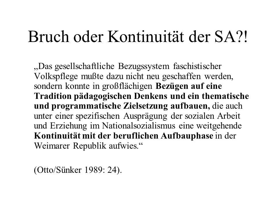 Bruch oder Kontinuität der SA !