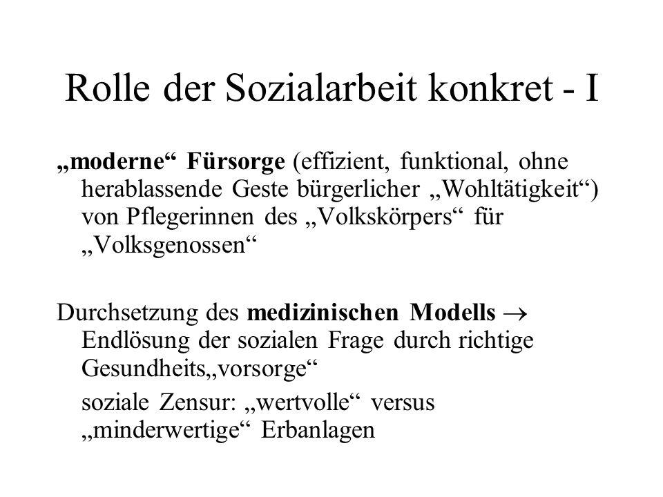Rolle der Sozialarbeit konkret - I