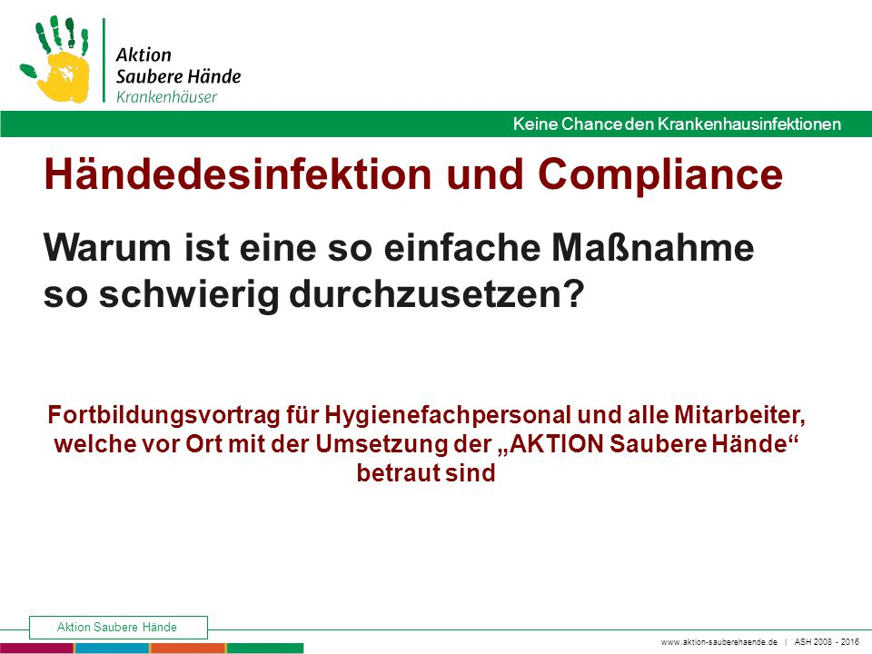 Händedesinfektion und Compliance