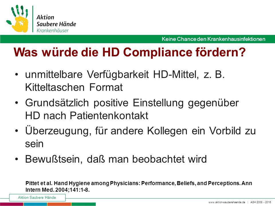 Was würde die HD Compliance fördern